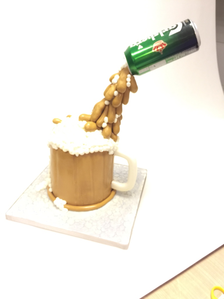 Gravity Defying Beer cake