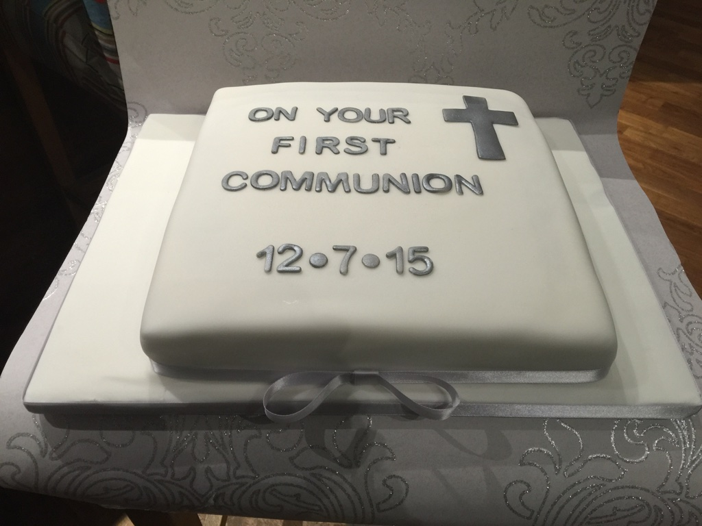 Ollie's Communion Cake