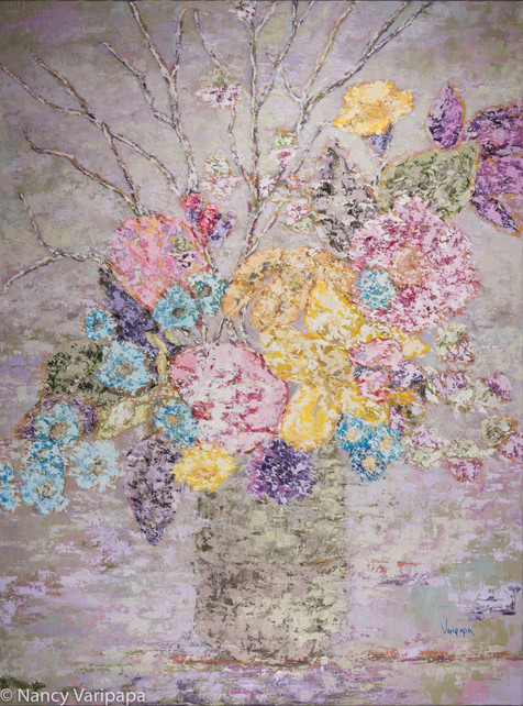 Mixed Flowers 36x48