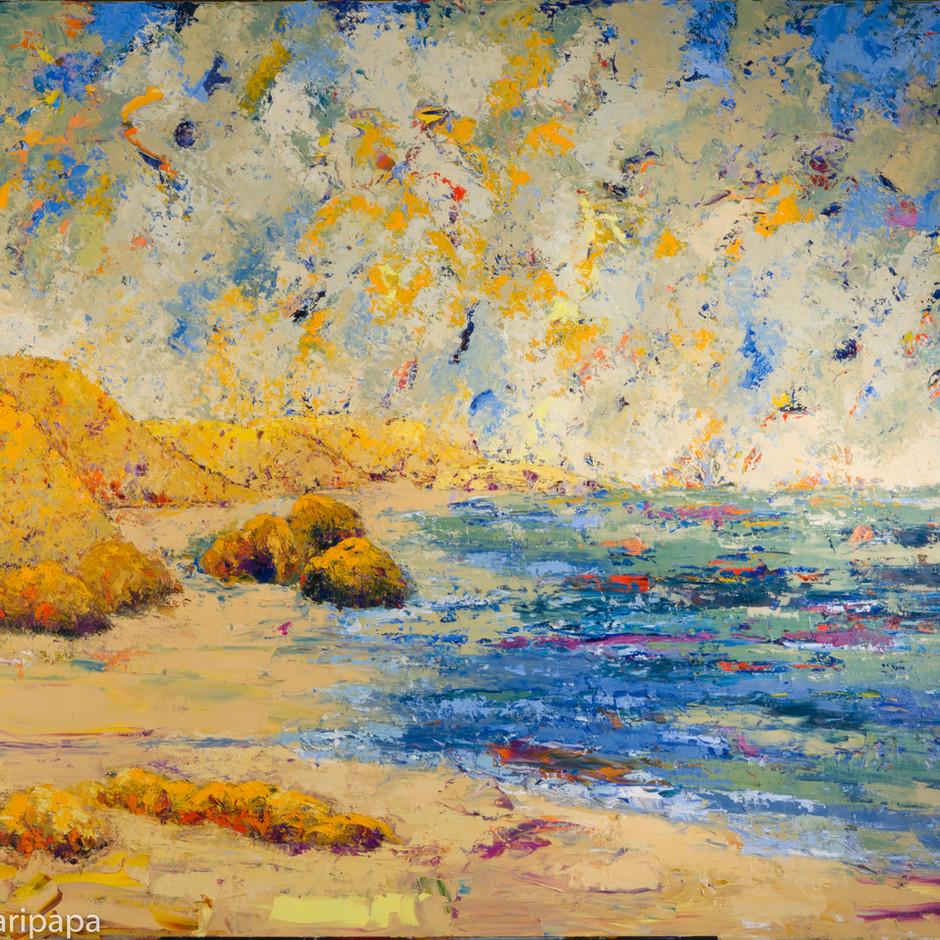 Land, Sky, Sea V 48x36