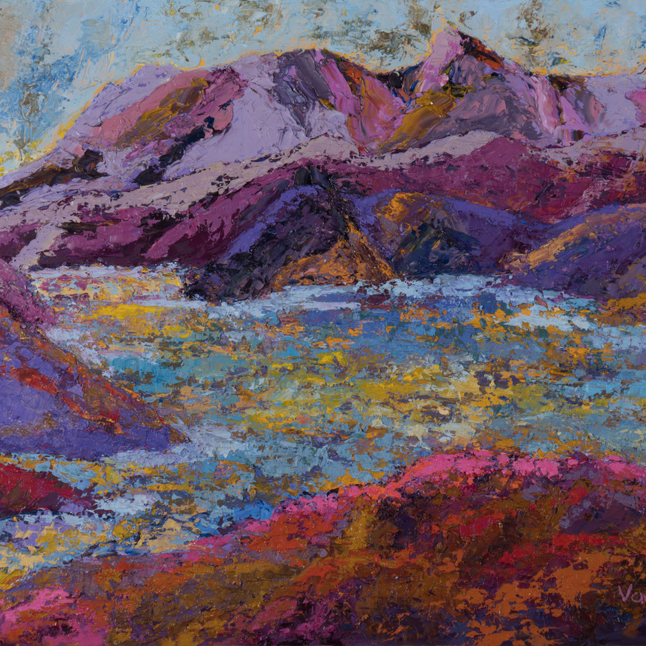 Purple Mountains 24x18