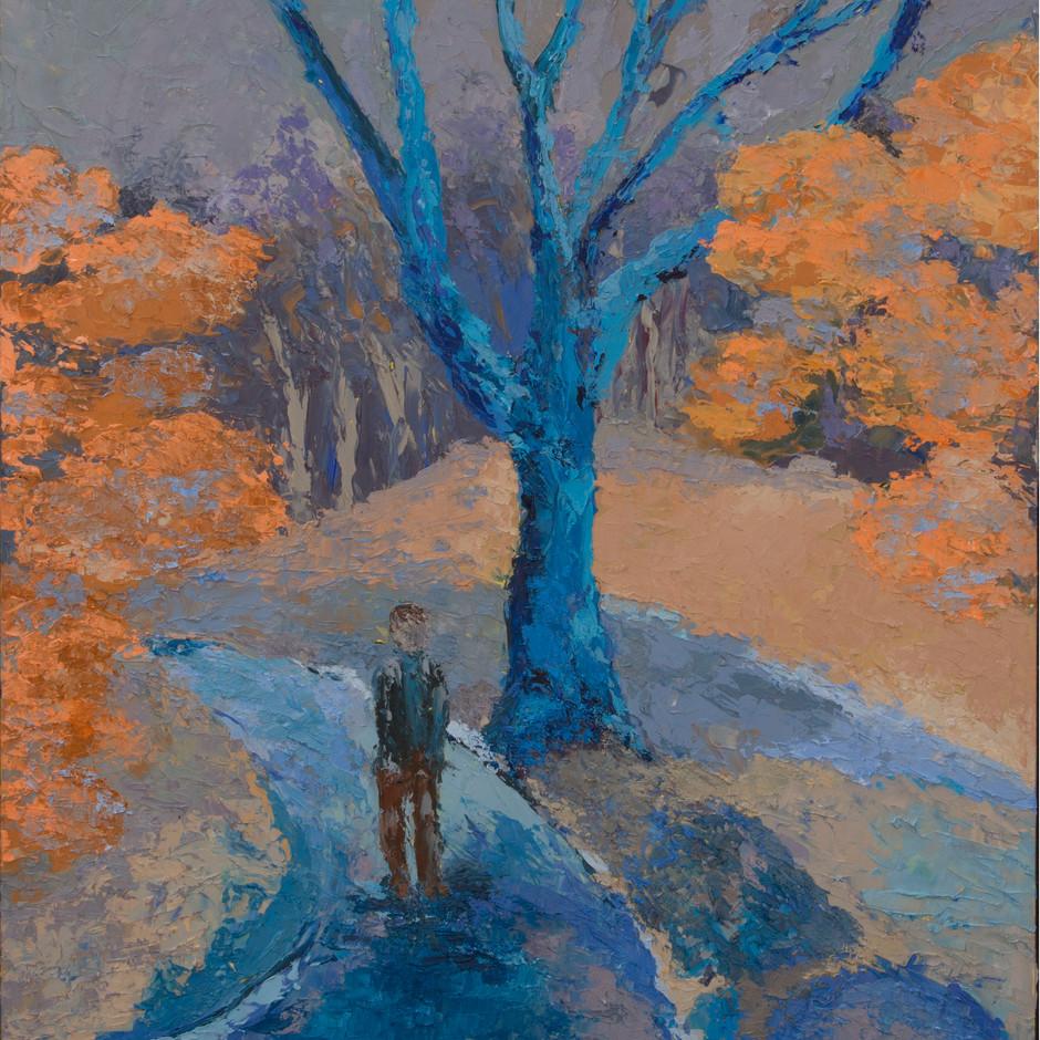 Blue Tree 18x24