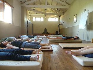 Séance de yoga nidra. Une grande relaxation.
