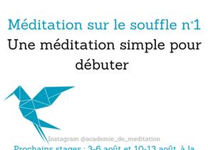 Méditation sur le souffle : inspiration, expiration.