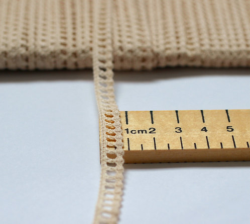 Lace Trim 7mm Wide Made From 100% Organic Cotton