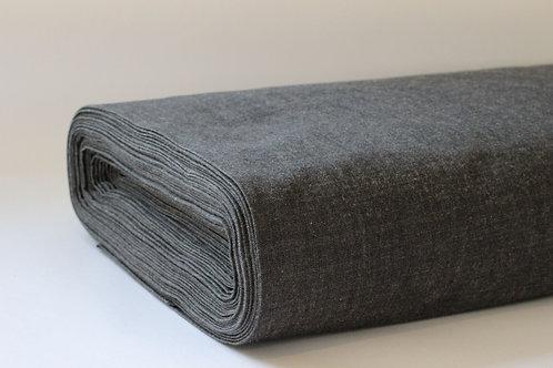 Black Crossweave Fabric - Made from 100% GOTS Organic Cotton