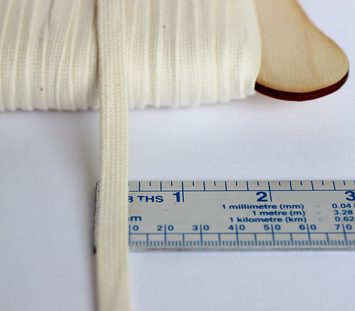 Flat Cord 8mm Wide Made From 100% Organic Cotton