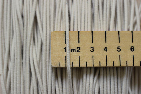 Elastic Cord 3mm Wide Made With Organic Cotton