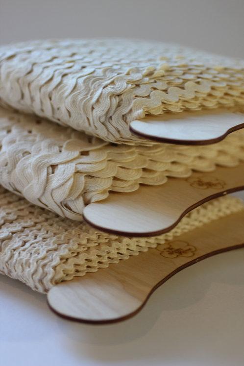 Rick Rack Trim Various Widths Made from 100% Organic Cotton