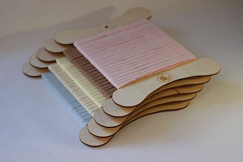 Taffeta Ribbon 12mm width Made From 100% Organic Cotton