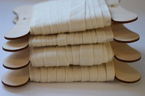 Tape in 10mm/15mm/20mm Widths 100% Organic Cotton
