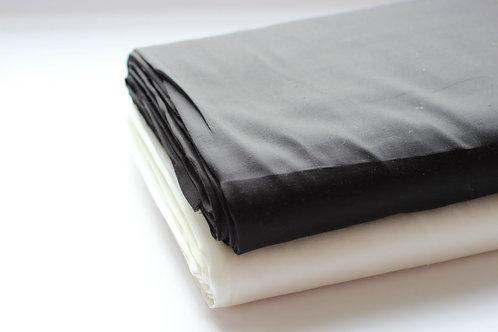 White/ Natural/ Black Bamboo Silk - 100% Organic Fabric