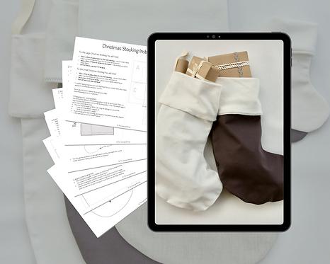 Christmas Stocking PDF Sewing Pattern & Instructions