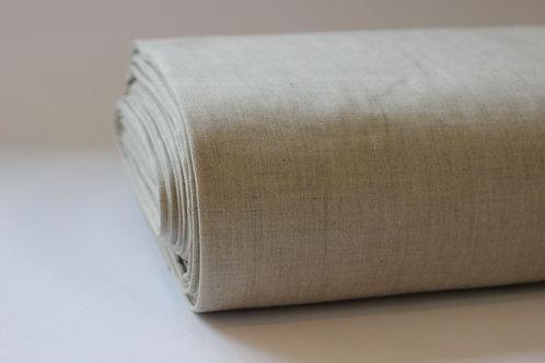 Stone/Grey Crossweave Cotton Fabric - Made from 100% Organic Cotton