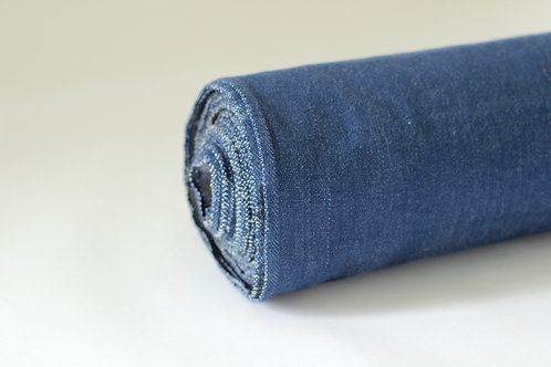 Blue Denim Fabric - Made from 100% GOTS Organic Cotton