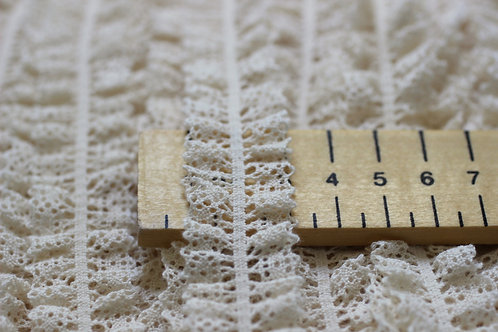 Elastic Lace Trim 25mm Wide Made With Organic Cotton