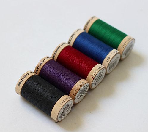 Autumnal Set of 5 Sewing Threads- 100% Organic Cotton