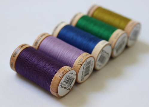 Monets' Set of 5 Sewing Threads- 100% Organic Cotton