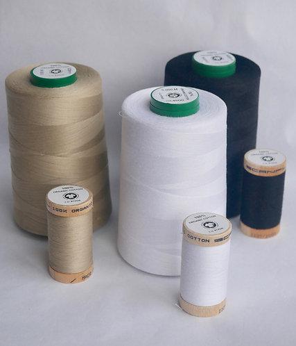 5000 Meter Sewing Thread Cones - 100% GOTS Organic Cotton