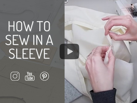 5 top tips for sewing in a set-in sleeve & my easy method