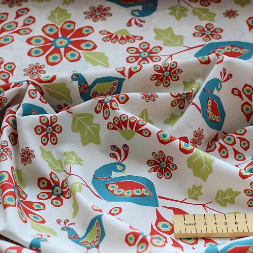Roster Print Fabric - 100% Organic Monaluna Cotton