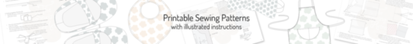 Printable PDF sewing patterns for beginners with easy to undestand illustrated instructions