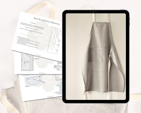 Apron Printable Sewing Pattern & Instructions