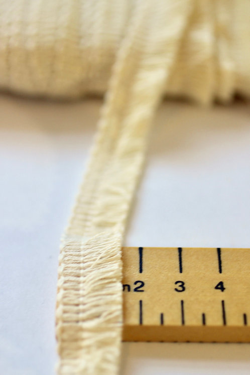 Fringe Trim 15mm Wide - Made From 100% GOTS Certified Organic Cotton