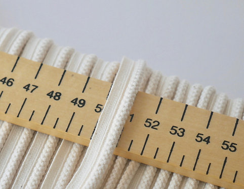 Piping 10mm Wide - Made From 100% GOTS Certified Organic Cotton