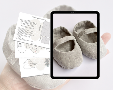 Baby Slipper PDF Sewing Pattern & Instructions