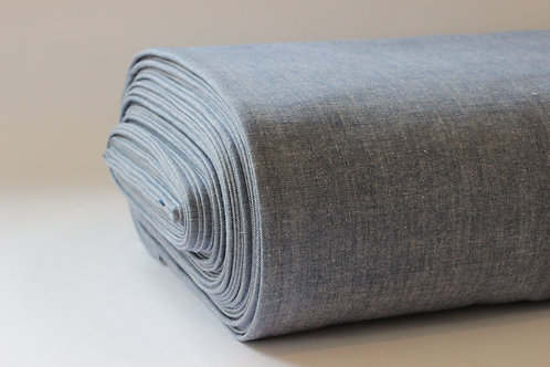 Blue/Denim Crossweave Cotton Fabric - Made from 100% GOTS Organic Cotton