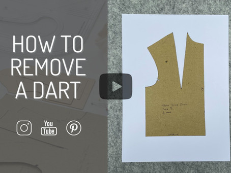 How to remove a bust dart from a bodice block