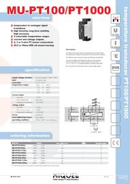 Temperature Transducer PT100/PT1000