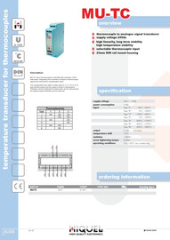 Temperature Transducer for Thermocouples