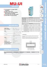 Transducer for Strain Gauge Sensors