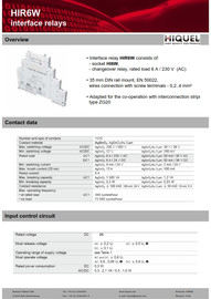 PLC Interface Relay - Slim Type