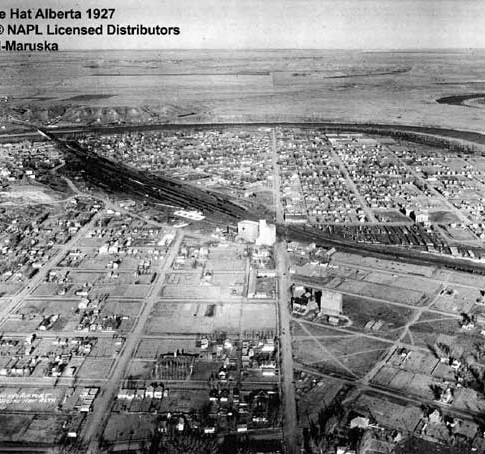 Old Aerial View of Medicine Hat