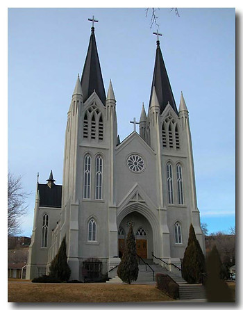 Front View of St Pats