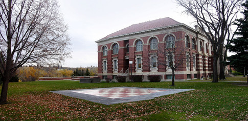 Courthouse & Chess Board