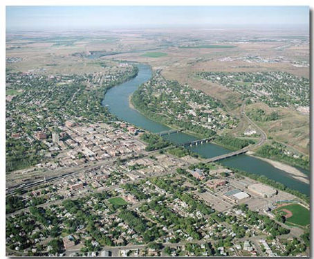 City Aerial Photo Lethbridge
