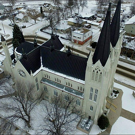 Aerial View of St Pats Church