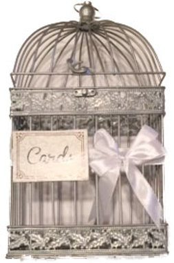 Small White Iron Letter Holder Cage