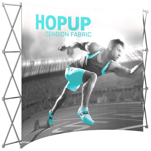 Pop Up Hop Up Fabric Stretch Banner