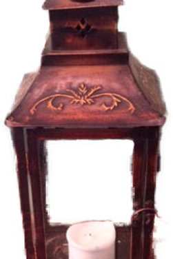 Brown Tin Lantern