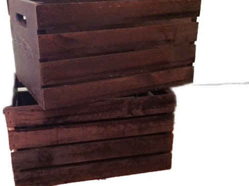 Dark Wood Crates