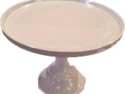 Medium Porcelain White Cake Stand