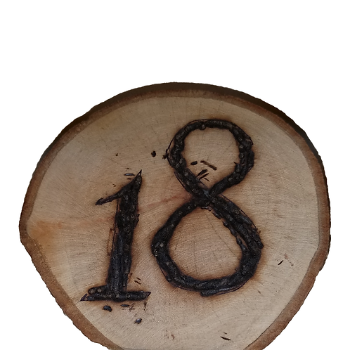 Rustic Tree Table Number
