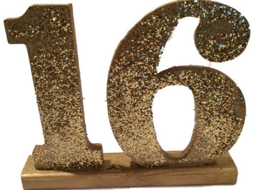 Large Gold Sparkling Table Numbers
