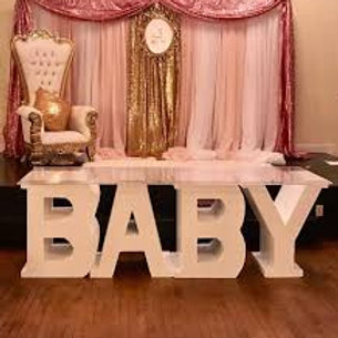 Tall & Large Baby Table Display