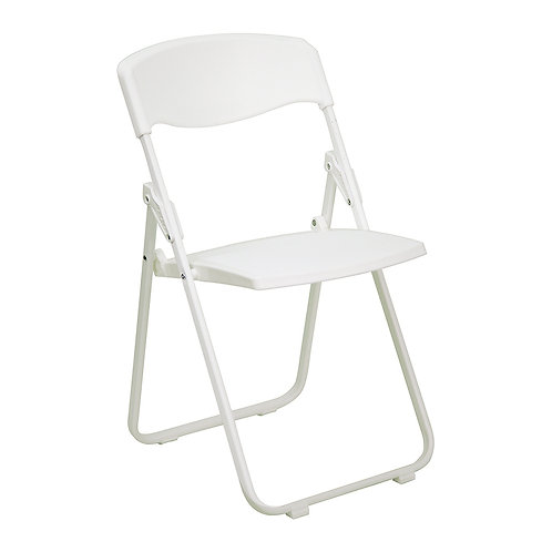 Plastic Fold Up White Chair